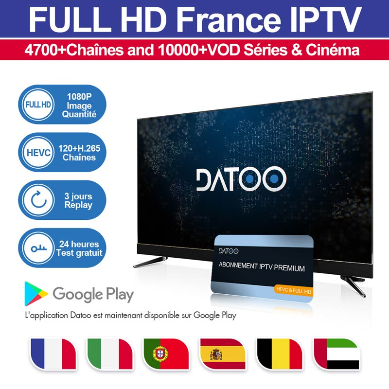 Image 2 - IPTV France 1 Year Subscription Arabic Swedish Portugal Belgium IPTV Spain Germany Italy Code for M3u Android pk QHDTV IP TV-in Set-top Boxes from Consumer Electronics