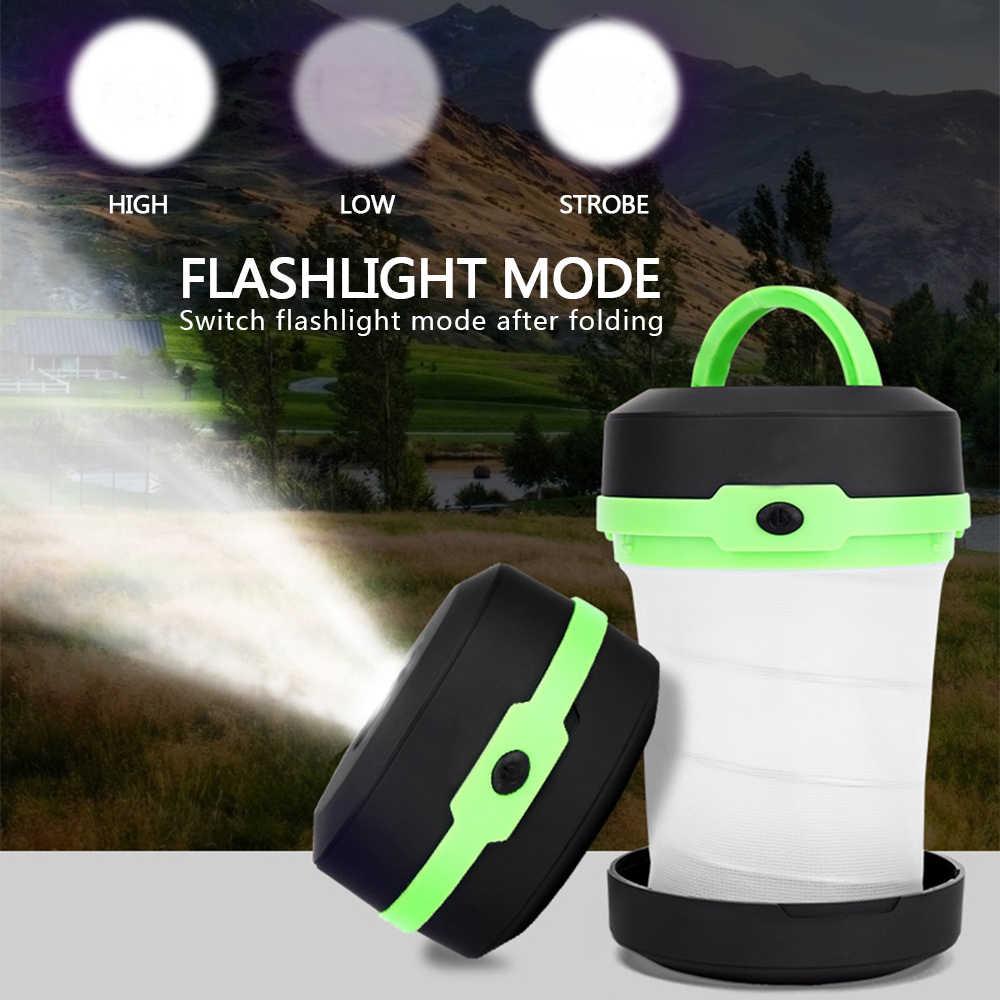 Multifunktions Camping Licht Tragbare Zelt Licht Versenkbare Camping Lampe Taschenlampe Outdoor Laterne Verwenden AA Batterie
