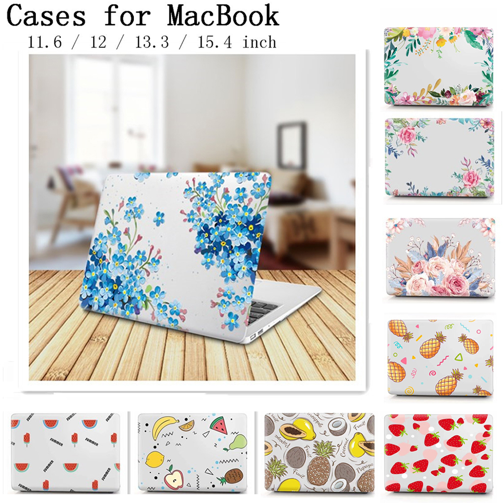 New Laptop Sleeve Case For <font><b>Apple</b></font> <font><b>Macbook</b></font> 13.3 inch <font><b>Cover</b></font> For <font><b>Macbook</b></font> Air <font><b>Pro</b></font> 11 12 13 <font><b>15</b></font> Retina With Touch Bar Flower Fruit Case image