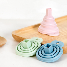 Accessories-Funnel Cooking-Tools Funnel-Style Folding Kitchen Silicone Mini Protable
