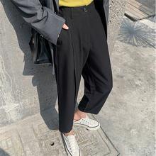 Hzirip solto cintura alta sólida ol streetwear calças chique quente 2021 moda magro todos os jogos tamanho grande suave novas calças casuais