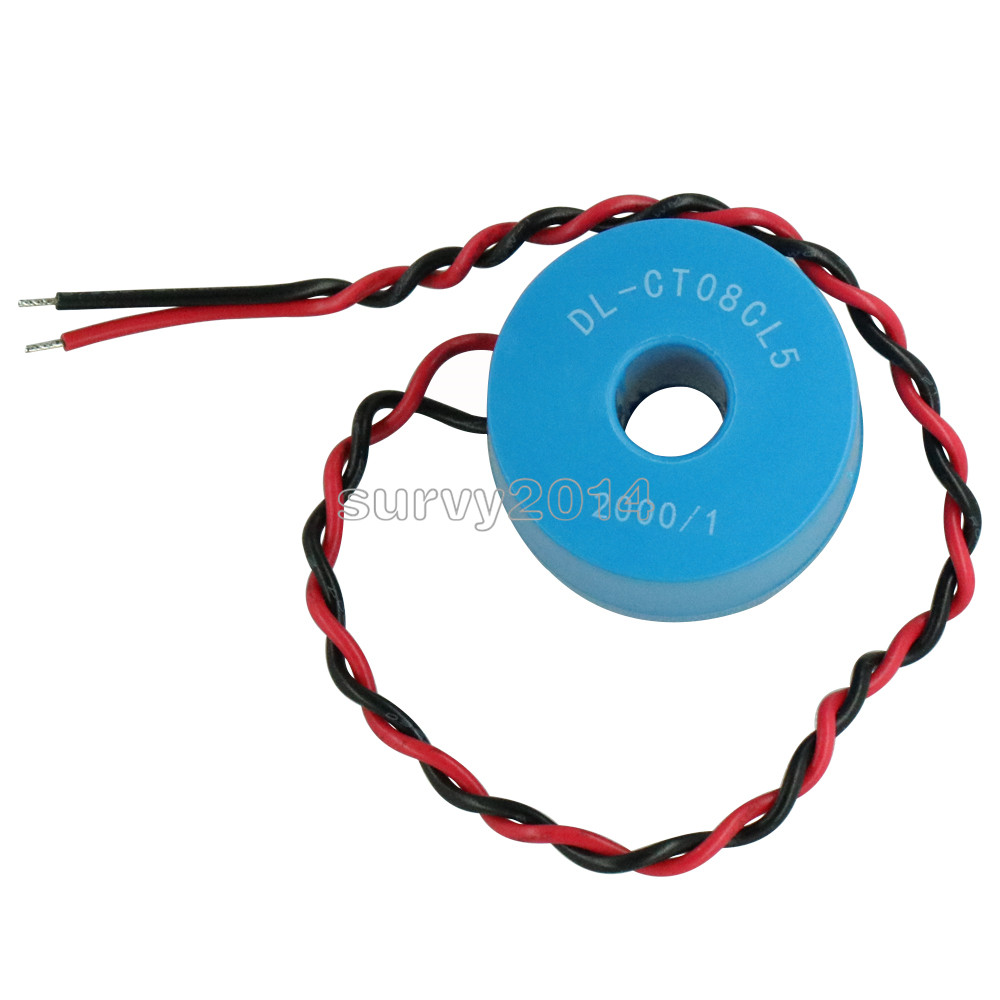 1PCS DL-CT08CL5-20A/10mA 2000/1 0~120A Micro Current Transformer