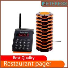 RETEKESS wireless calling system call button waiter for restaurant cafe shop queue management system restaurant equipment(China)