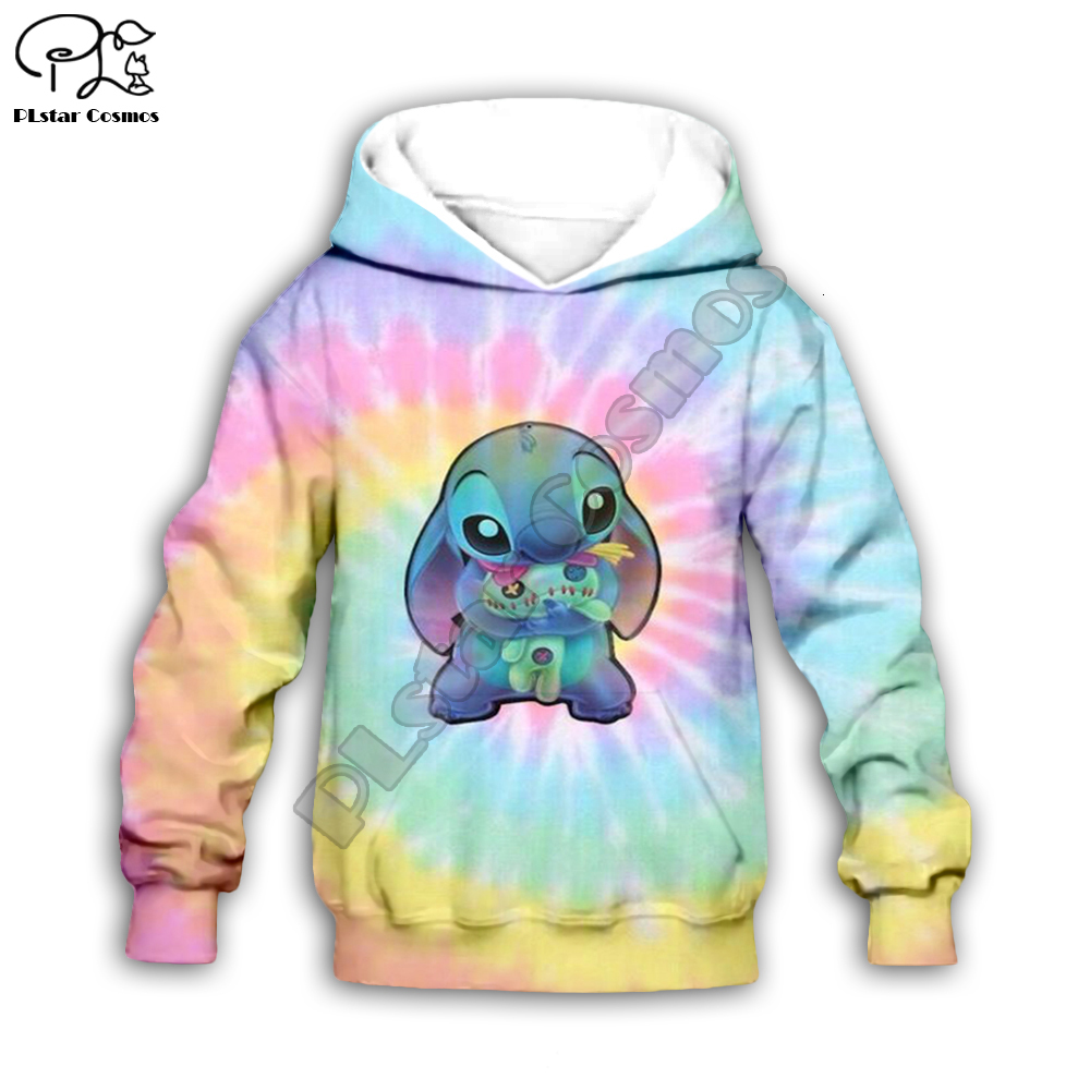 Anime Boy Girl Clothing Lilo Stitch 3d Print Kids Cartoon Hoodies/zipper/sweatshirt Pant Kawaii Child Colorful Set
