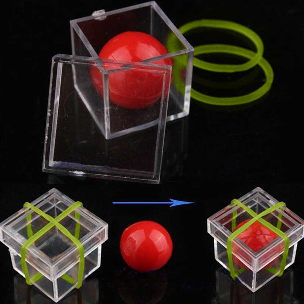 Sihirli oyuncak kutusu inanılmaz komik top kutudan yanılsama sihirli Conjure Magician Trick oyunu sahne
