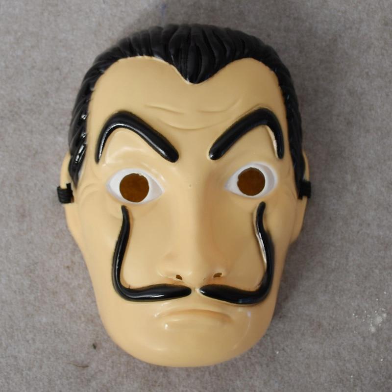 Long Section Salvador Dali Mask Halloween Funny Masquerade Masks Money Heist The House Of Paper La Casa De Papel Cosplay Costume