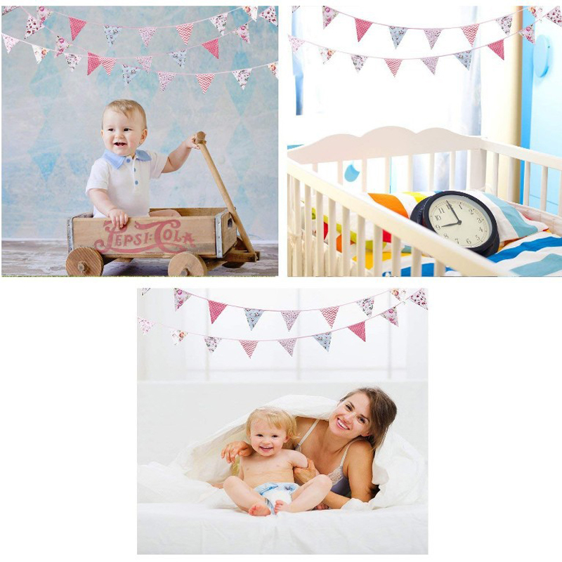 36 Flags10m 33 ft Colorful Garlands Birthday Bunting Banners Pennant Baby Shower Wedding Garland Flags Party Decoration Supplies in Banners Streamers Confetti from Home Garden