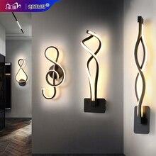 Lâmpadas de parede moderna e minimalista sala estar quarto cabeceira 16w AC96V 260V led arandela preto branco lâmpada iluminação do corredor decoração