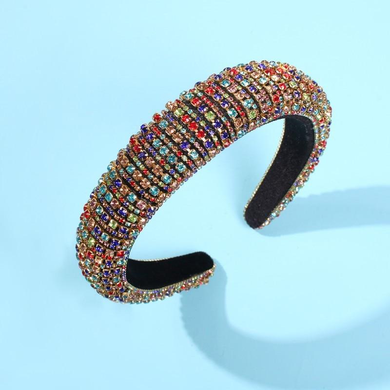hair accessories Headdress headband colored diamond sponge hairband fashion creative European and American wholesale