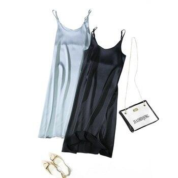Toppies 2021 Women Satin Dress Party Luxury Shiny Sundress  Imitation Silk Fashion Ladies Dress
