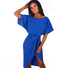 Elegant Lady Office Dresses O Neck Casual Dresses One-pice Sexy Dresses Lace Up Midi Dress adogirl solid lace patchwork ruffle hem bodycon dress o neck long flare sleeve sheath midi party dresses office lady work wear