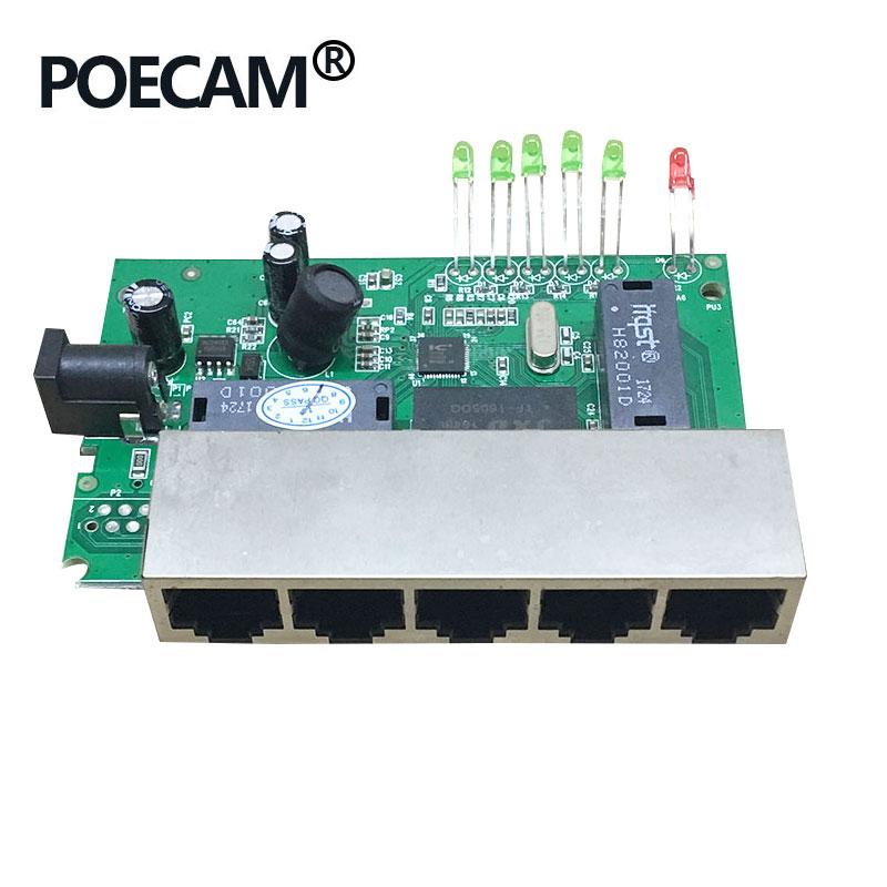 5 Porta 12V 15V Passivo Poe Switch Ethernet 10/100Mbps Switch Poe 4 Porta di Alimentazione per cctv Macchina Fotografica Del Ip Del Telefono Ip Camera 4/5 + 7/8-