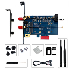 PCI-E adapter Wifi PCIE Wifi adapter bluetooth Mini PCI express do PCIE X1 karta sieciowa dla Mini PCI E Wifi 3G/4G/LTE + gniazdo sim