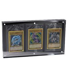Yu-gi-oh-Tarjeta Triple gruesa, modelo acanalado, tarjeta magnética fuerte, ladrillo 35PT