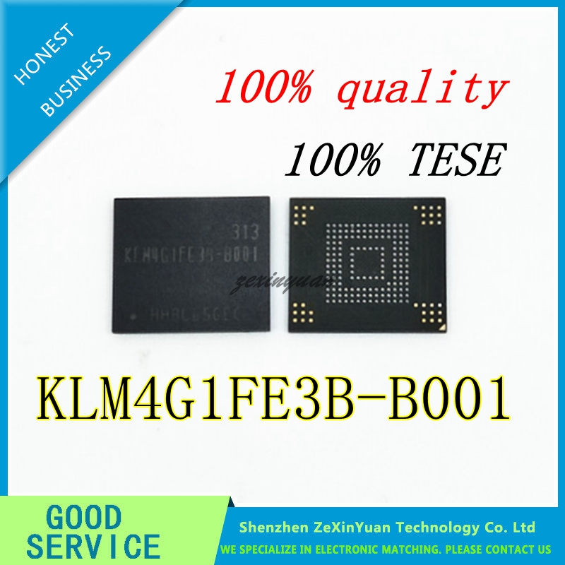 5PCS 10PCS 20PCS 100% Test Very Good Product  KLM4G1FE3B-B001 4GB BGA EMMC KLM4G1FE3B B001