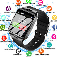 Nouvelle montre intelligente Bluetooth montre intelligente DZ09 appel téléphonique Android Relogio 2G GSM carte SIM caméra pour IPhone sa m u ng PK GT08 A1 X6(China)