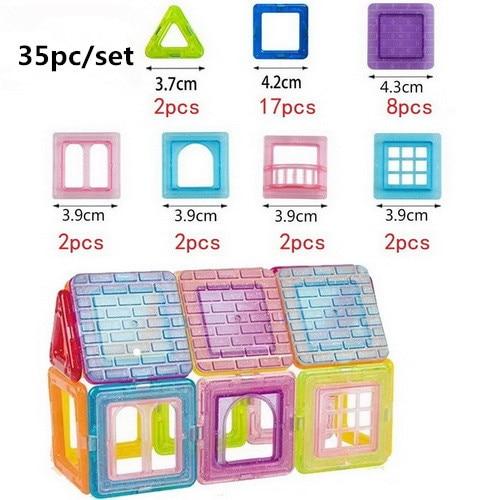 110pcs/set Mini Magnetic Construction Toys Model Building Blocks Plastic Magnetic Designer Bricks Educational Toys for Children