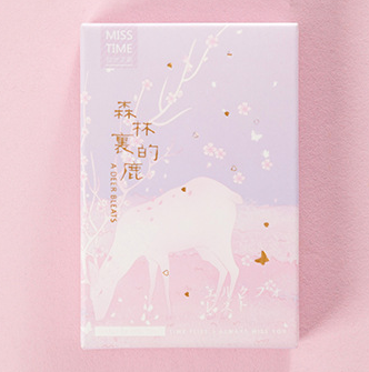 52mm*80mm Forest Deer Paper Greeting Card Lomo Card(1pack=28pieces)