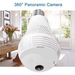 Image 1 - 960 1080P パノラマカメラ Wifi 電球 360 度 Cctv のホームセキュリティビデオ監視無線 Lan ナイトビジョン双方向オーディオ