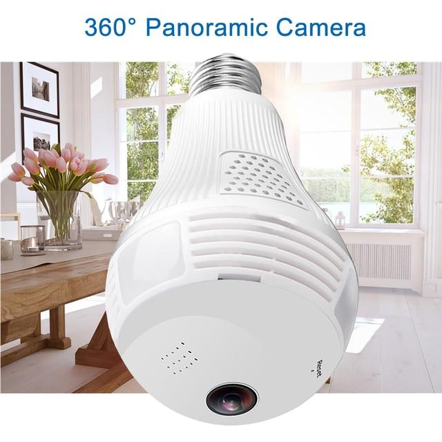 960 1080P パノラマカメラ Wifi 電球 360 度 Cctv のホームセキュリティビデオ監視無線 Lan ナイトビジョン双方向オーディオ