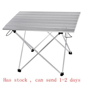 Przenośny stół składany składany Camping piesze wycieczki biurko podróże piknik na świeżym powietrzu nowy niebieski szary różowy czarny stop aluminium ultralekki S L tanie i dobre opinie BEAR SYMBOL Metal Minimalistyczny nowoczesny Montaż Prostokąt 39 5*35*32cm or 56 5*40 5*41cm Na zewnątrz tabeli Meble ogrodowe