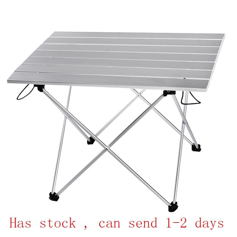 Table Portable pliable, en Camping, pliable, bureau de randonnée, pique-nique en plein air, bleu, gris, rose, noir, alliage Ultra-léger S L