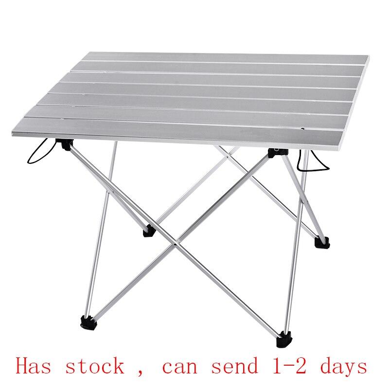 Table Portable pliable pliable Camping randonnée bureau voyage pique-nique en plein air nouveau bleu gris rose noir Al alliage Ultra-léger S L