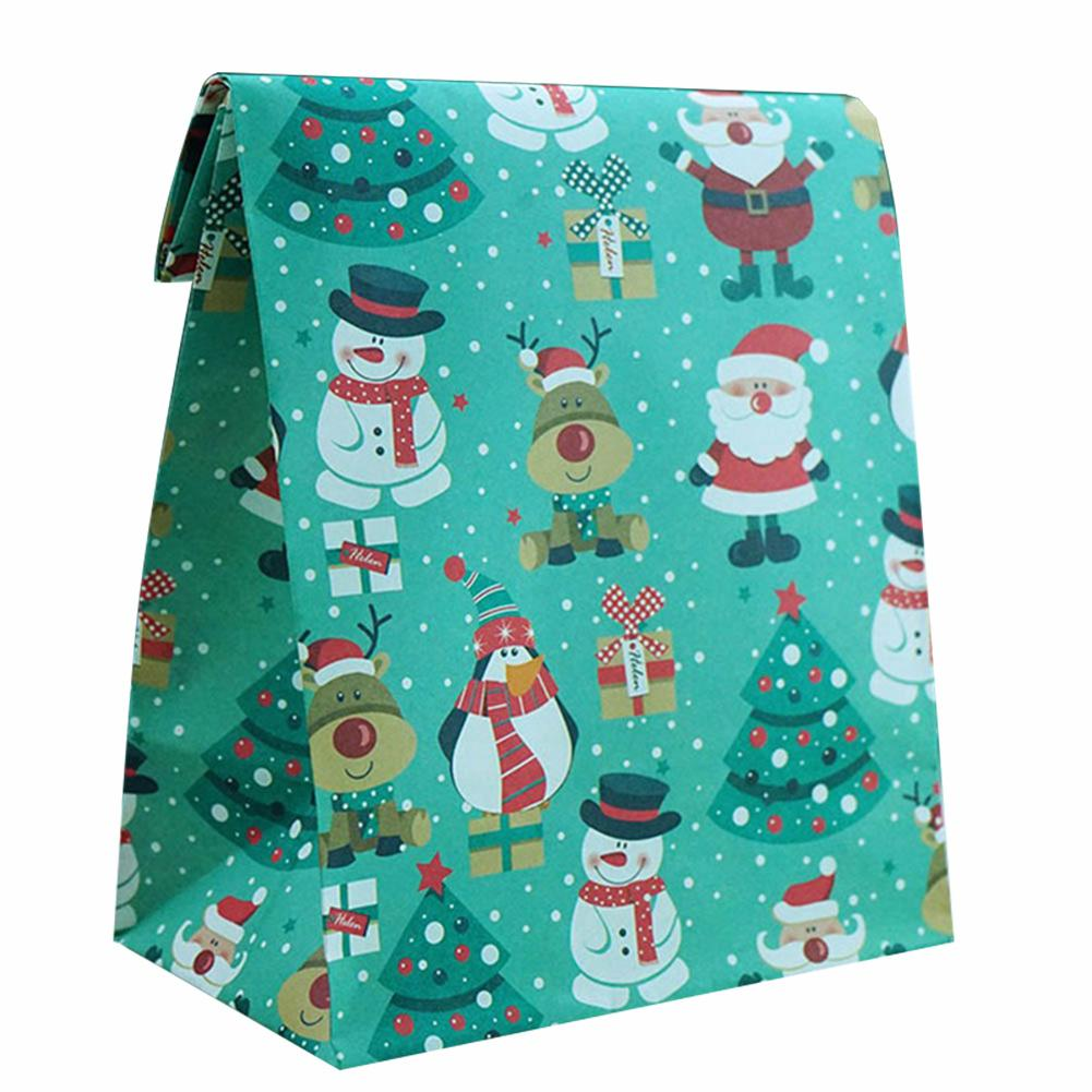 1pc Christmas Gift Bag Santa Snowman Elk Xmas Tree Pouch Home Decoration New Year Christmas Party Candy Cookies Small Gift Bags