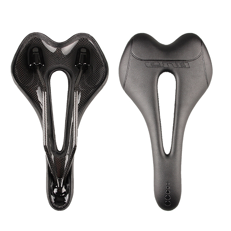Ultralight Carbon Fiber Bike Saddle Seat Micro Leather Cushion Cycling Road  US