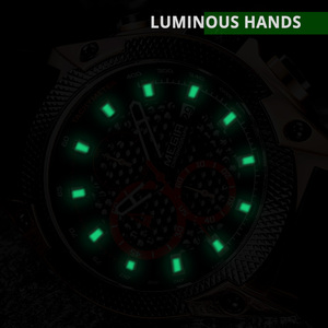 Image 2 - Megir Mannen Sport Horloge Relogio Masculino Blauw Siliconen Band Heren Horloges Top Brand Luxe Lichtgevende Waterdichte Quartz Horloge Man