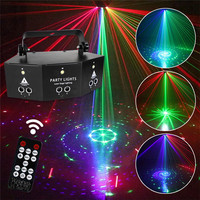 Professional New Nine Eye Laser Strobe Light Stage Projector Red Blue Green Lamp Wedding Birthday Party DJ Lamp With Controller