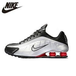 NIKE SHOX R4 Cushioned Air Mens Running Shoes Brethable Anti-slip Sports Sneakers Bv1387-001