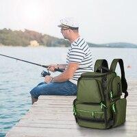 Fishing Bag Multifunctional Fishing Tackle Bag Tactical Outdoor Fishing Lures Reel Storage Backpack Carp Fish Bait Box Pesca