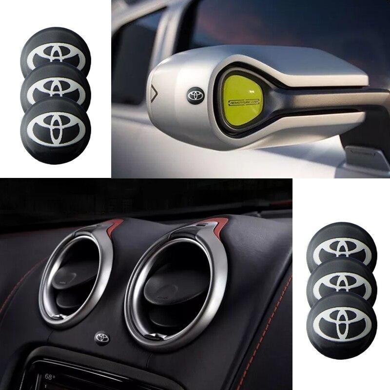 10 шт. 14 мм пульт дистанционного управления Автомобильная наклейка с эмблемой, значком для Toyotas Corolla Yaris Rav4 Avensis Auris Camry C hr 86 Prius|Наклейки на автомобиль|   | АлиЭкспресс