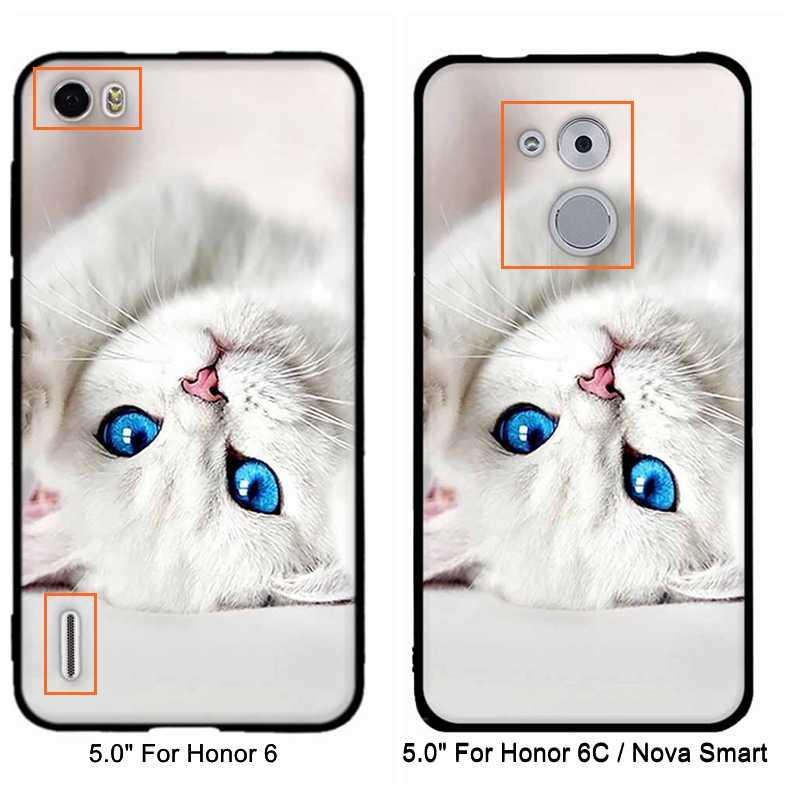 Dla Huawei Honor 6C 6 przypadku miękka TPU silikonowe torby pokrywa dla Huawei Nova Smart/Honor 6C przypadku dla Huawei Honor 4C 5A przypadki telefonów
