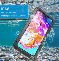Waterproof For Samsung A70 Case Armor 360 Full Protect For Samsung Galaxy A 70 Aluminum silicone Phone Cases Cover Coque Capa