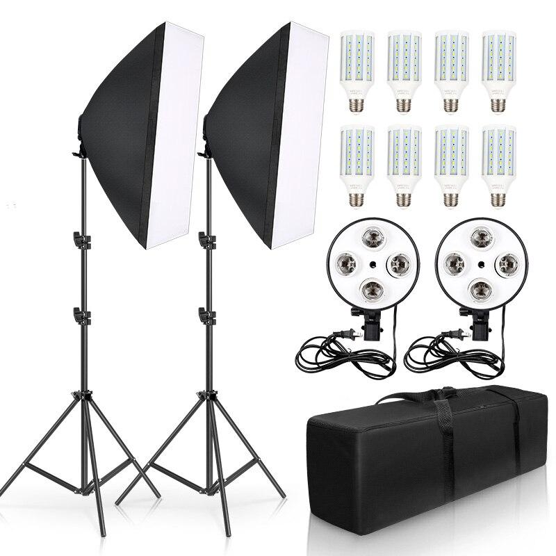 20W LED Digital Photography Continuous Softbox Lighting Studio Video Portrait Kit 1