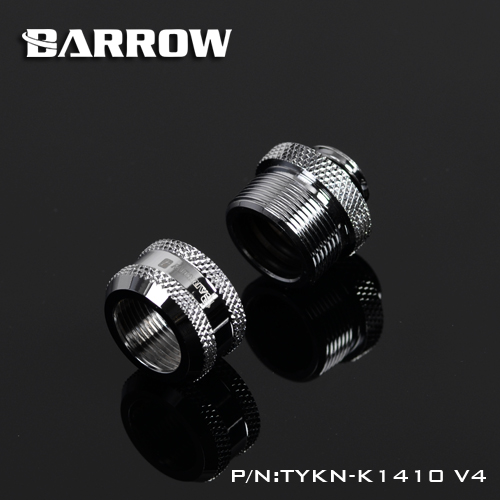 Barrow TYKN-K1410V4, OD14mm Hard Pipe Fittings, G1 / 4 Adapter For OD14mm Hard Tubes  Gadget