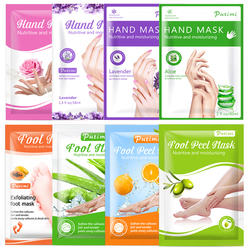 PUTIMI 3pack Moisturizing Hand Mask Spa Gloves Exfoliating Hand Patches Gloves Whitening Mask Peeling Foot Mask Remove Dead Skin