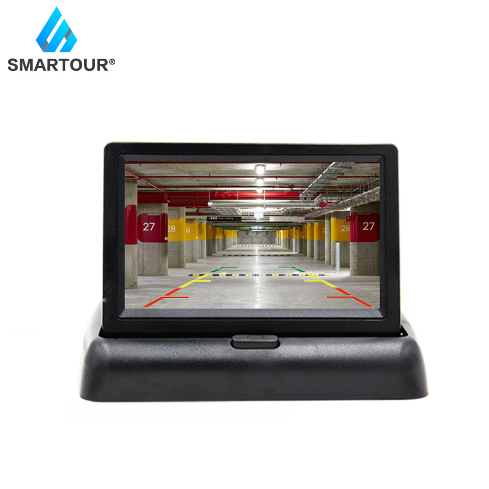 Smartour Rearview-Mirror-Monitor Parking-Assistance Video Reversing Auto Car CCD LED title=