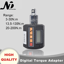 digital torque wrench 1 2 2 200nm adjustable professional electronic torque wrench bike car repair Digital torque wrench 1/2 30N 135N 200N Adjustable Professional Electronic Torque Gauge Bike car Repair