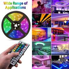 RGB LED luces de lectura mesita de noche lámpara de decoración luces Puerto USB 1M-5M escritorio luz de fondo tipo TV cinta Flexible LED cinta(China)