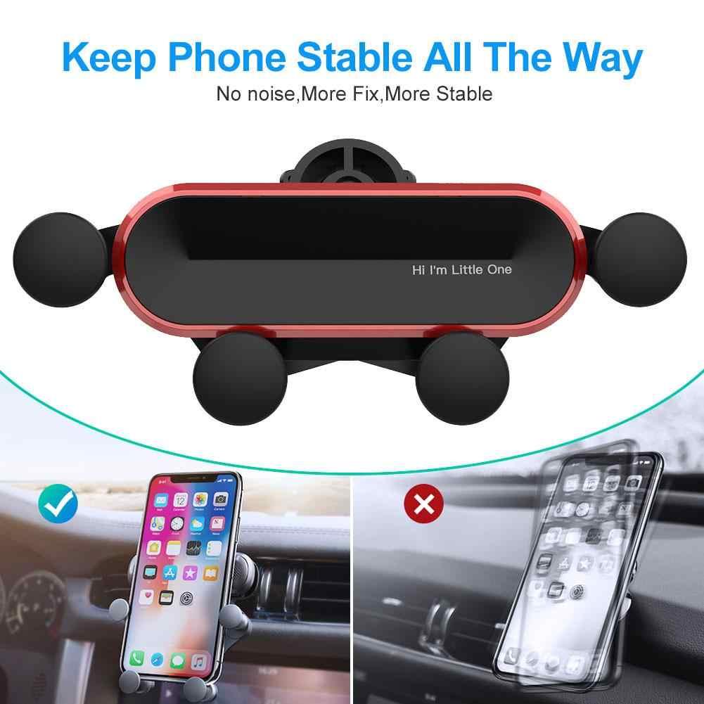 Маленький один гравитационный Автомобильный держатель для телефона в Автомобиле вентиляционное отверстие крепление без магнитного мобильного телефона держатель для навигатора для IPhone XS MAX