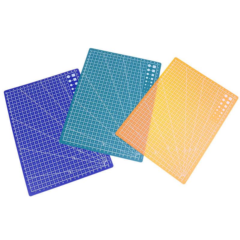 1 pc 30*22cm a4 grade linhas auto cura tapete de corte ofício cartão tecido couro placa papel