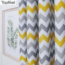 Topfinel Geometrische Welle Blackout Vorhänge Für Wohnzimmer Moderne Gedruckt Gelb Blau Fenster Behandlung Vorhänge Schlafzimmer Vorhänge