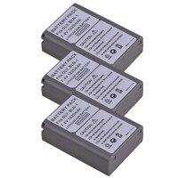 Durapro 3PC 7.4V 1220mAh BLN 1 PS BLN1 Rechargeble Li ion Battery for Olympus PS BLN1 BLN 1 Battery E M5 EM5 OMD OM D Cameras
