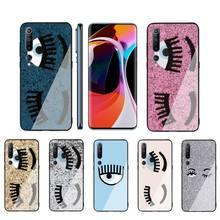 Hot Chiara Ferragni Eyes Phone Case Tempered Glass For XiaoMi 8SE 6 8lite MIX2S Note 3 Redmi Note 7 5 4 Redmi 6A 5Plus 4X