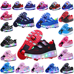 2019 Christmas Child Jazzy Junior Girls&Boys LED Light Heelys, Children Roller Skate Shoes, Kids Sneakers With Wheels