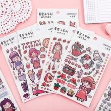 Mohamm 4 шт xia naizi серия декоративные бумажные наклейки diy
