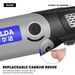Image 5 - HILDA 전동 드릴 미니 조각 회전 툴 6포지션, 소형 그라인딩 머신 400W 로터리 도구 드레멜용
